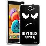 YOYOGO FUNDA DE GEL SILICONA caso para woxter zielo z400 Protectora Caja TPU Flexible Cáscara Don't touch my phone