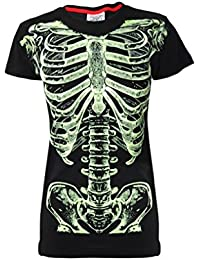 "Côtes de squelette-""Glow In The Dark Original Darkside T-Shirt imprimé Noir"