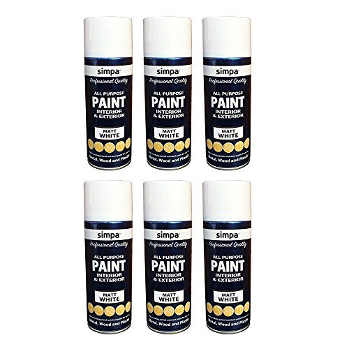 simpar-all-purpose-interior-exterior-spray-paint-white-matt-400ml-x6