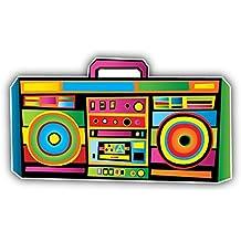 Funny Colorful Boom Box Music Art Decor Vinyl Sticker Pegatina 12 x 8 cm