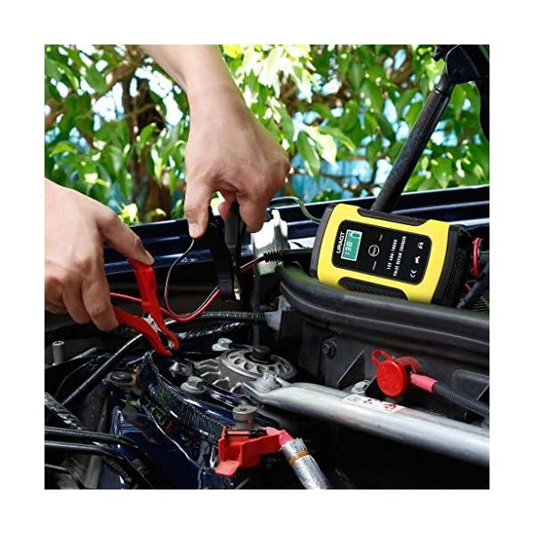 Cargador de Batería, URAQT 12V Mantenimiento Automático e Inteligente con Múltiples Protecciones para Automóviles…