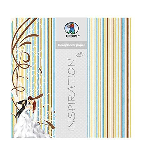 Ursus 70300090 - Premium Glitter Scrapbook paper Hochzeit 2, ca. 30,5 x 30,5 cm, 5 Blatt,  Preisvergleich