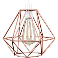 Retro Style Copper Metal Basket Cage Ceiling Pendant Light Shade
