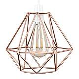 MiniSun – Retro, schöner und kuperfarbiger Lampenschirm in Korbform aus Metall – für Hänge- und Pendelleuchte