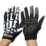 Handschuhe Transer® Frauen Fashion Full Finger Handschuhe M/L/XL Punk Totenkopf Halloween Skelett-Handschuhe für Bike Wolfskopf-Motiv Fahrrad Outdoor Sports