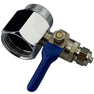 Aqualogis Hebelbetätigtes T-Stück mit Absperrventil 3/4x 3/4x 1/4PF