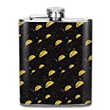 Rundafuwu ballon de hanche Flask for Liquor and Funnel, Hip Flask For Liquor Men's Elephants Spray Rainbow Stainless Steel Bottle Unisex