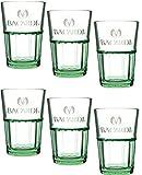 Bacardi Glass Tumblers, Box of 6