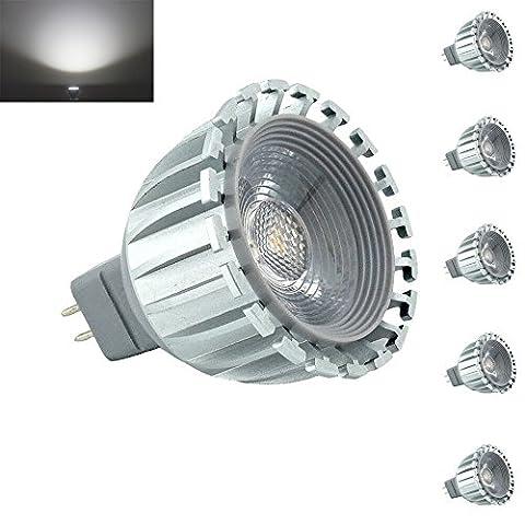 bonlux 5er Pack MR16LED-Licht 12V 60Grad Abstrahlwinkel LED Spot GU5.3LED Tageslicht 6000K Entspricht 50W für Landschaft Einbauleuchte Track Beleuchtung 6.00 wattsW, 12.00 voltsV