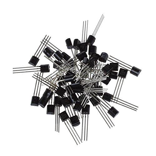 SODIAL(R) 2N3906 3 Pins General Purpose PNP-Bipolar-Transistoren 50 Stueck