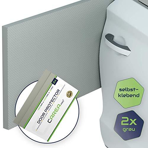 CAREApro® Premium Auto Türkantenschutz für Deine Garage - 2er Pack in grau - 400mm x 200mm x 10mm - Türkantenschoner selbstklebend