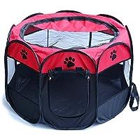 Jaula estilo parque para mascotas de Meiying, ideal para perros y gatos, portátil, plegable, caseta de ejercicio, para uso en interiores y exteriores