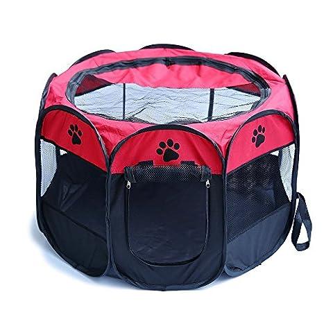 Haichen Enclos Chiot Portable et pliable pour animal domestique Chat Oxford Chiffon Tente, 72,9x 72,9x 42,9cm