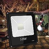 Roleadro Faretto LED 50w con Ultra-Luminoso SMD3030 LED Chips IP66 Impermeabile Faro LED Proiettore 6000K Multiuso per Decorazione di illuminazione in Casa Giardino 2700LM