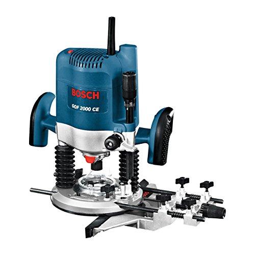Bosch Professional GOF 2000 CE, Nennaufnahmeleistung, 8.000 - 21.000 min-1 Leerlaufdrehzahl, Kopierhülse 30 mm, L-Boxx, Parallelanschlag, 2.000 W, 0601619770