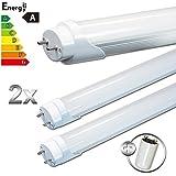 Ledvero T8/tubo transparente blanquecino G13 SMD-LED 90 cm luz blanca cálida, fría, luz blanca neutra, blanco cálido, 2 unidades 14.0|watts