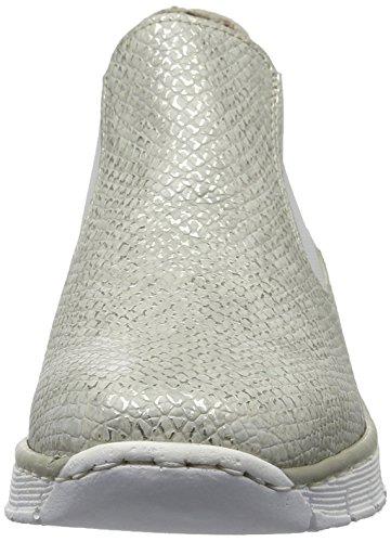 Rieker 53790, Stivaletti Donna Bianco (ice / 80)