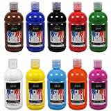 Set de 10 colores acrílicos - Calidad óptima - 500 ml - Ideal para profesionales y aficionados