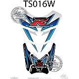 Suzuki GSXR 6007501000blanco/azul motocicleta tanque pad Motografix 3d gel protector
