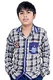 #5: AK13 Sulfur Denim Chex Kid'S Boy Shirt, 3-4 Years