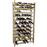 SunDeluxe Étagère à Bouteilles de vin Bacchus Basic en 3 Tailles différentes - Porte Bouteille, casier à vin en Bois de pin pour 36, 77 ou 91 Bouteilles, Variable:91 Bouteilles