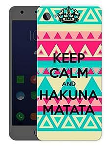 "Humor Gang Keep Calm And Hakuna MatataPrinted Designer Mobile Back Cover For ""Lenovo Zuk Z2"" (3D, Matte Finish, Premium Quality, Protective Snap On Slim Hard Phone Case, Multi Color)"