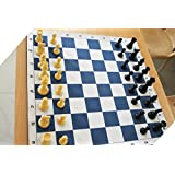 SPEEDY Vinly Matt and Heavy Coins Grand Master Chess Set with Special Travel Case, (Multicolour, XT-FQFX-NLFV)