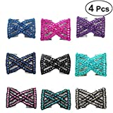#8: Frcolor Hairpins Stretchy Fashion Variety Magic Hair Combs Clips Hair Accessories for Women Girls (Random Color) 4pcs