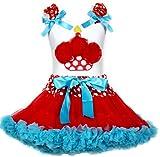 Vestido de cumpleaños Cupcake camiseta de color blanco de lunares rojo azul falda niña ropa 1–8Y