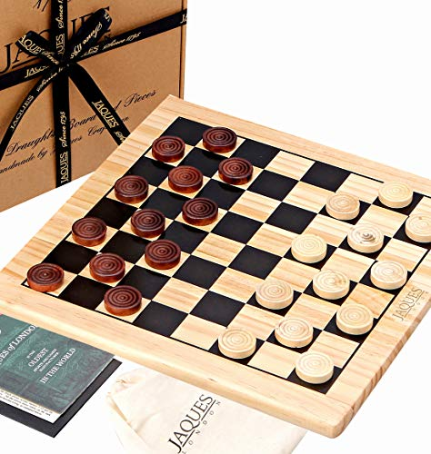 Jaques of London - Wooden Draughts Set