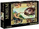 Clementoni Puzzle 36513 - 6000 pz - Michelangelo - La creazione dell'uomo -  Museum Collection