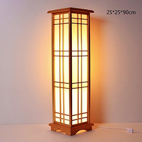 Laterne-stil Stehlampe (MMM- Japanischen Stil Laterne Stehleuchte Kreative Persönlichkeit Massivholz Tischlampe Holz Farbe Nordeuropa Nacht Schlafzimmer Wohnzimmer Studie Stehlampe (größe : 25 * 25 * 90cm))