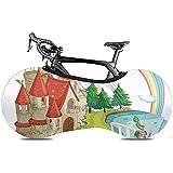 Sweet-Heart Fahrrad Radabdeckung, Protect Gear Reifen - Astle Green Storybook von Pop-Up-Buch mit Schloss und Ritter White Accommodation Brick