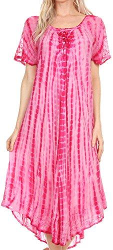 sakkas-17601-yasmin-tie-dye-brod-sheer-manches-sundress-cover-up-fucshia-os