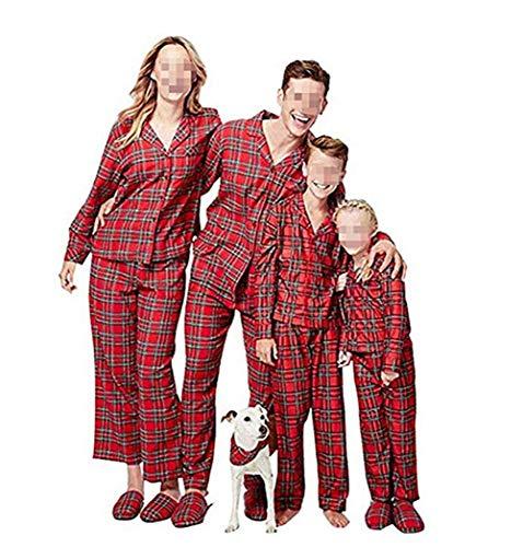 Douleway pigiami natale famiglia, indumenti da notte costume cotone camicie manica lunga + pantaloni abbigliamento felpa natale invernale primaver per uomini donne bambini-bambini