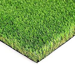 LITA Kunstrasen, 35 mm Florhöhe, natürlich und realistisch aussehend, Astro-Gartenrasen, hohe Dichte, künstlicher Kunstrasen