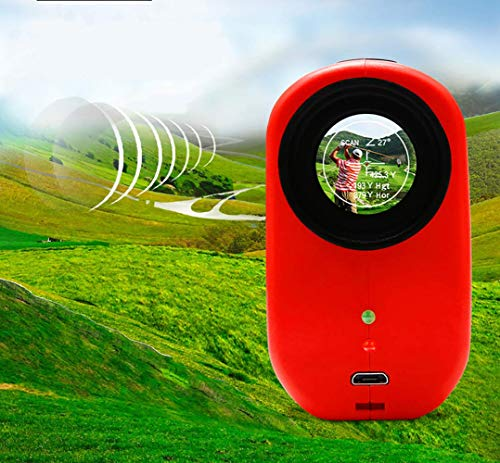Entfernungsmesser für Golfjagd Technik-Inspektion -7-fache Vergrößerungsreichweite Höhe Horizontaler Abstand Winkelgeschwindigkeit 1200m