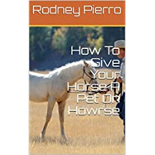 How To Give Your Horse A Pet On Howrse (English Edition)