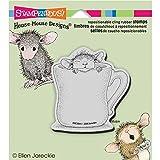 Unbekannt Stampendous Gummi House Maus Selbst Stempel 14x 11,4, warm Tasse
