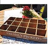 Unbekannt Holzkiste Dekobox 15 Fächer Landhaus Shabby Holzbox Fächerbox Gartendeko