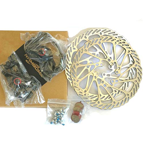 Kungfu Mall Road MTB Fahrrad Fahrrad-Brake Disc F-1 Front Rear Wheel Brake Disc Rotor Kit