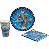 Offspring Birthday Party Supplies Set Plates, Cup and Napkin- Set of 10