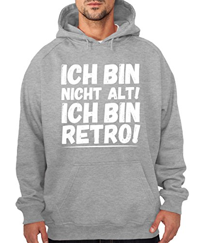 -- Ich bin retro! -- Boys Kapuzenpullover Sports Grey