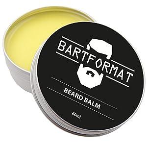 BARTFORMAT Bart Balsam (60 ml) – Natürliches Bartpflege Balsam für Geschmeidige Barthaare – Beard Balm mit Sheabutter, Aprikosen, Jojoba und Argan Öl