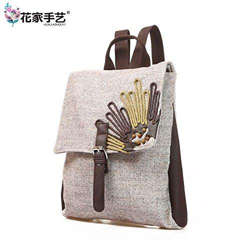 Tendenza moda borsa a tracolla ladies casual biancheria di cotone borse zaino borsa dello studente A