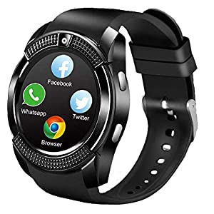 Smart Watches, Bluetooth Smart Watch SN08 Unlocked Watch Phone can Call and Text with Touch Screen Camera Notification Sync for Android SamSung Huawei HTC LG Xiaomi Sony and IOS iPhone Men Women Kids