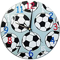 Football Clock / Kids Soccer Clock / Nursery Decor