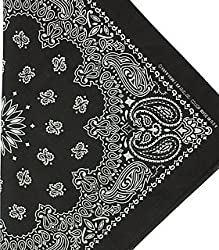 Fabfive – Hav A Hank – Made in the USA Bandana – Black by Fabfive