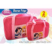 Set of 2 Disney Princess Thermal Bag 24 + 6lt Sea Swimming Pool Gift Idea mct1947