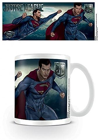 Set: Justice League, Movie Superman Action Tasse À Café Mug (9x8 cm) + 1x Sticker Surprise 1art1®